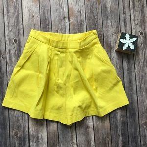 Zara Yellow High Waist Shorts Size XS